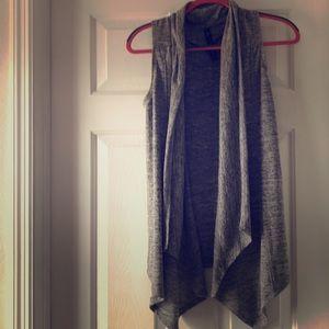 Asymmetrical sleeveless sweater